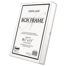 Nu-Dell - Un-Frame Box Photo Frame, Plastic, 8-1/2 x 11 -  Clear