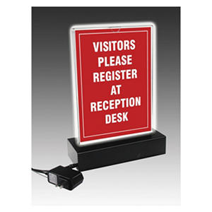 NuDell - LED Lighted T-Sign, 8 1/2 x 11 -  Clear