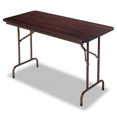 Alera 4' Melamine Folding Table - Walnut