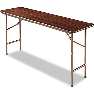 Alera 5' Melamine Folding Table - Walnut