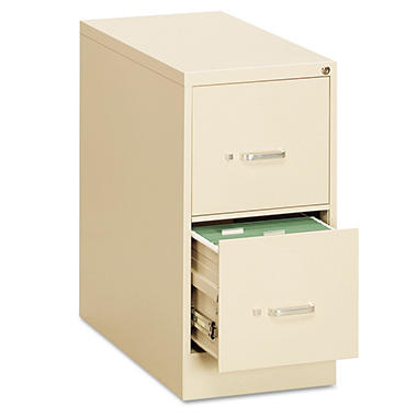 "OIF - Vertical File Cabinet, 2-Drawer, Economy, Letter, 26-1/2"" Depth - Putty"