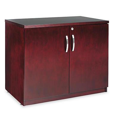 Alera Verona Veneer Series Storage Cabinet - Mahogany