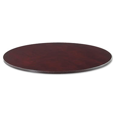 Alera Verona Series Round Meeting Table Top - Mahogany
