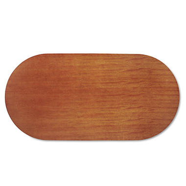 Alera Verona Series Racetrack Conference Table Top with Modesty Panel - Cherry