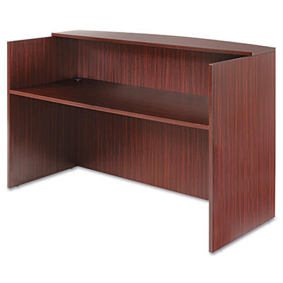 Alera Valencia Series Reception Desk w/Counter (Mahogany)