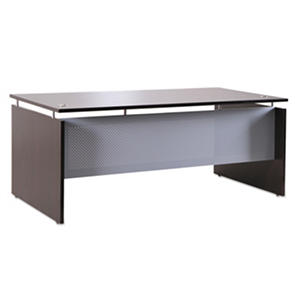 "Alera 72"" SedinaAG Series Straight Front Desk Shell, Espresso"