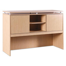 Alera SedinaAG Series Hutch With Sliding Doors - Maple