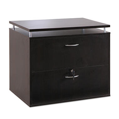 "Alera - SedinaAG Series Lateral File Cabinet, 2-Drawer, 36"" Width - Espresso"