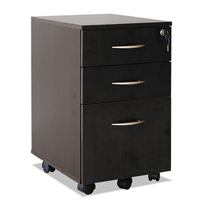 "Alera - SedinaAG Series Mobile Box/File Pedestal, 15-5/8""W - Espresso"