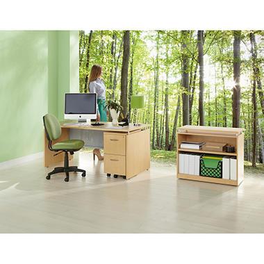Alera SedinaAG Series Bookcase - 2 Shelves - Maple