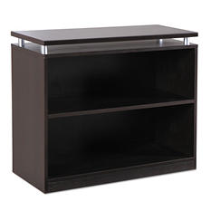 Alera SedinaAG Series Bookcase - 2 Shelves - Espresso