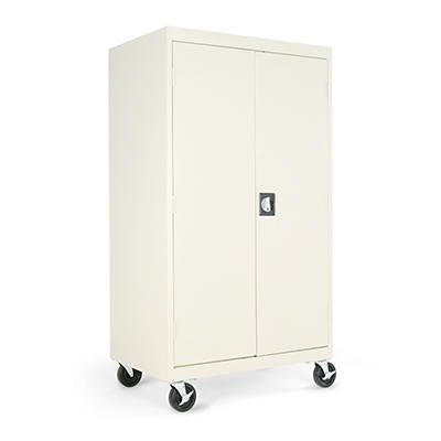 "Alera - Mobile Storage Cabinets, 66"" High - Putty"