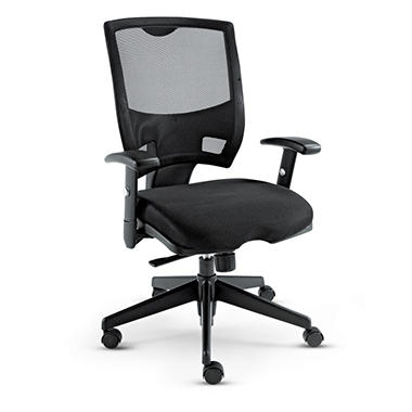 Alera Nico Mid-Back Swivel/Tilt Chair, Black