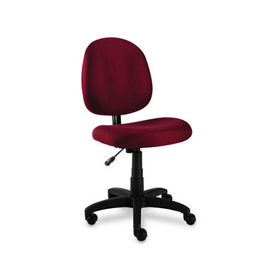 Alera Essentia Series Swivel Task Chair, Burgundy