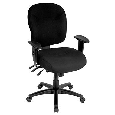 Alera Wrigley Series High Performance Mid-Back Multifunction Chair - Black