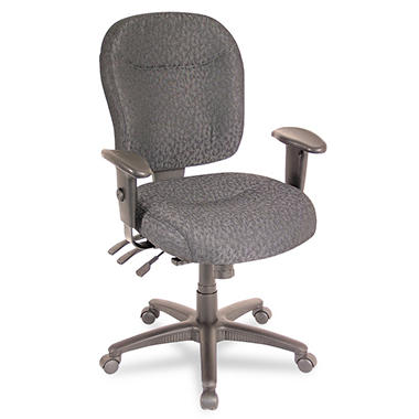 Alera - Wrigley Series High Performance Mid-Back Multifunction Chair, Charcoal