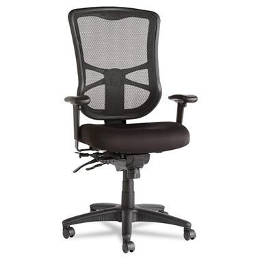 Alera Elusion Series High-Back Mesh Multifunction Chair, Black