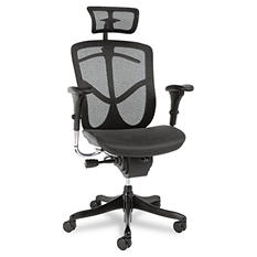 Alera EQ Series Ergonomic High Back Mesh Chair, Black