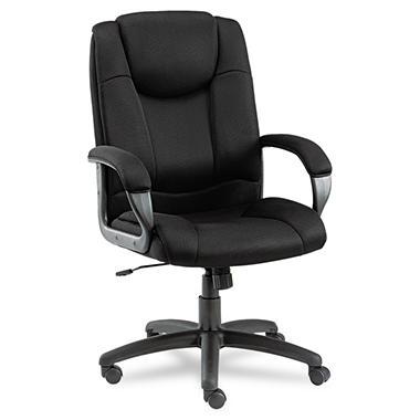 Alera - Logan Series Mesh High-Back Swivel/Tilt Chair, Black