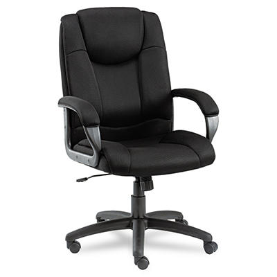 Alera - Logan Series Mesh High-Back Swivel/Tilt Chair, Black