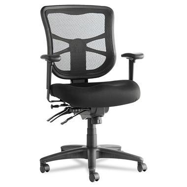 Alera - Elusion Series Mesh Mid-Back Multifunction Chair, Black
