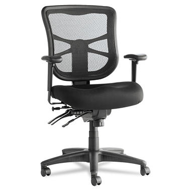 Alera Elusion Series Mesh Mid-Back Multi-function Chair, Black