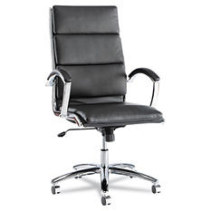 Alera Neratoli Series High Back Swivel/Tilt Chair, Black