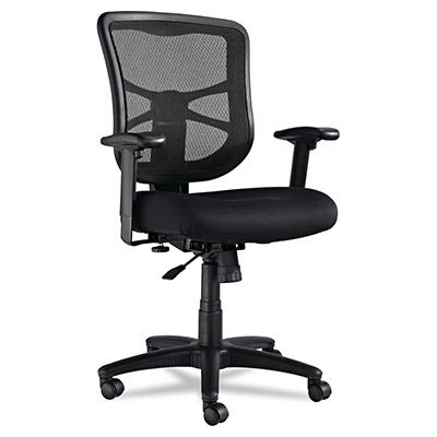 Alera - Elusion Series Mesh Mid-Back Swivel/Tilt Chair, Black