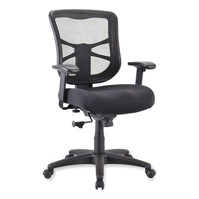 Alera - Elusion Series Mesh Mid-Back Swivel/Tilt Chair, Black