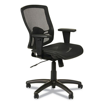 Alera - Etros Series Suspension Mesh Mid-Back Synchro Tilt Chair, Mesh Back/Seat, Black