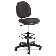 Alera Interval Series Swivel Task Stool, Black