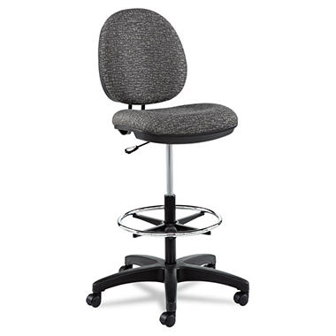 Alera Interval Series Swivel Task Stool, Gray