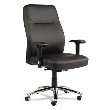 Alera LC Leather Series Self-Adjusting Chair, Black