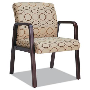 Alera Reception Lounge Series Fabric Guest Chair Mahogany