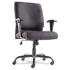 OIF Big & Tall Mid-Back Swivel/Tilt Chair, Black
