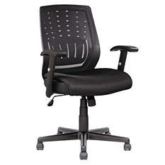 Alera Eikon Series Mesh Manager's Synchro-Tilt Mid-Back Chair - Black