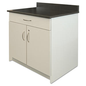 "Alera Plus 36"" 2-Drawer Hospitality Base Cabinet, Gray/Granite Nebula"