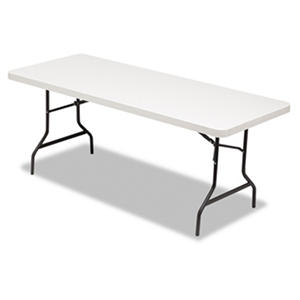 Alera 6' Resin Folding Table, Platinum