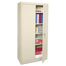 "Alera 72"" Economy Assembled Storage Cabinet, Putty"