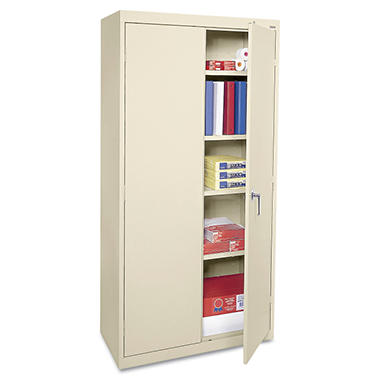 "Alera - Economy Assembled Storage Cabinet, 72"" High - Putty"