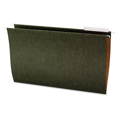 Office Impressions - Hanging File Folders, 1/3 Tab, 11 Point Stock, Legal, Standard Green - 25 Pack