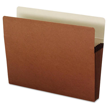 Office Impressions - 5 1/4 Inch Expansion File Pockets, Straight Tab, Letter, Redrope/Manila - 10 Pack
