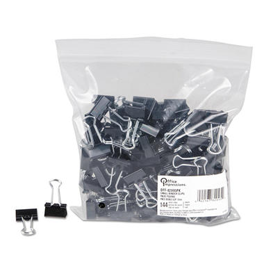Office Impressions - Binder Clips, Small - 12 Per Box - 12 Boxes - 144 Total Clips