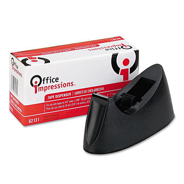 "Office Impressions - Tape Dispenser for 1"" Core Tapes - Black"