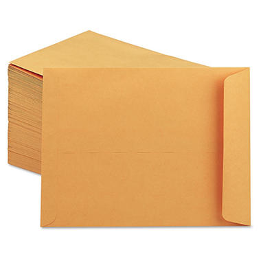 Office Impressions - Catalog Envelope, Center Seam, 9 x 12, Light Brown - 250/Box