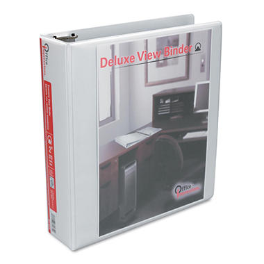 "Office Impressions - Economy View Binder, Round Ring, 2"" - White"