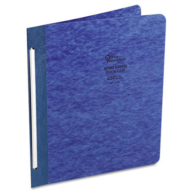 Office Impressions - Pressboard Report Cover, Dark Blue, 8 1/2 x 11, 3
