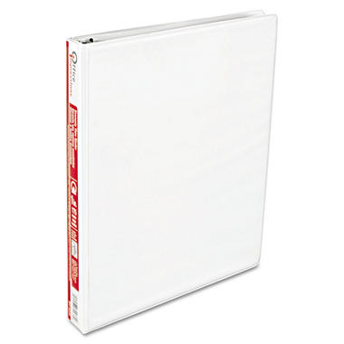 "Office Impressions - Economy View Binder, D-Ring, 1"", White - 12 Count"
