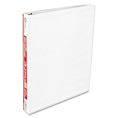 "Office Impressions - Economy View Binder, D-Ring, 1"" - White"