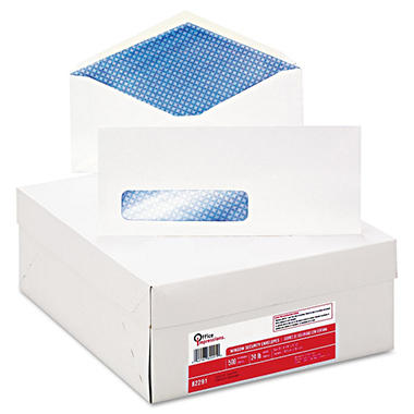 Office Impressions - Security Tint Window Envelopes - 500 per Box